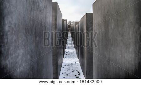 Berlin, Germany, April 2014: Memorial to the Murdered Jews of Europe