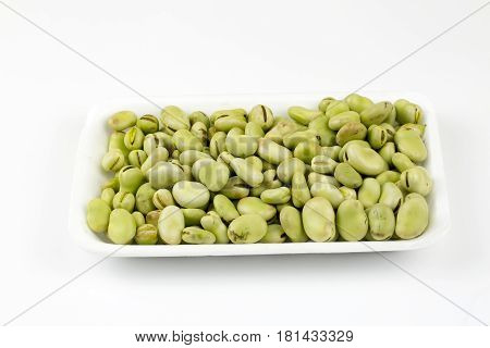 Fresh Fava or broad bean background, texture or pattern.