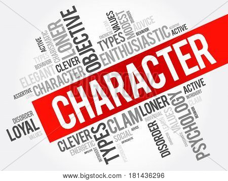 Character Word Cloud Collage
