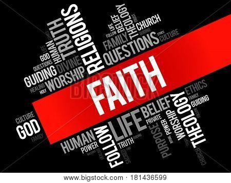 Faith Word Cloud Collage