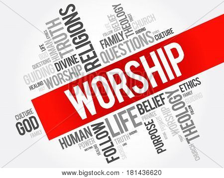 Worship Word Cloud Collage