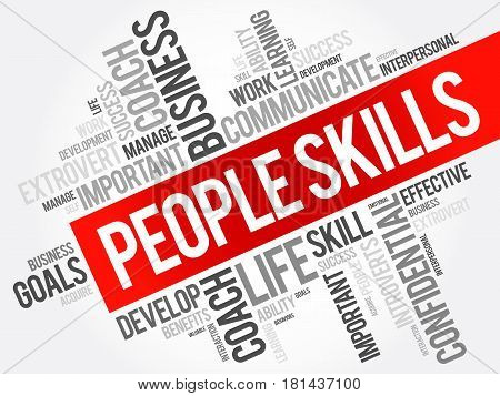 People Skills Word Cloud Collage