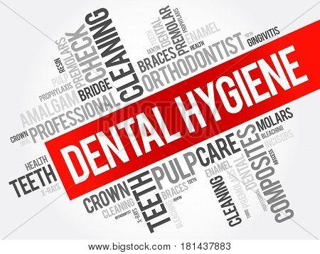Dental Hygiene Word Cloud Collage