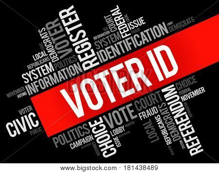 Voter Id Word Cloud Collage