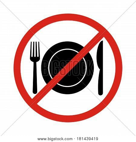 No eating vector signno food or drink allowed vector