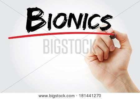 Hand Writing Bionics With Marker