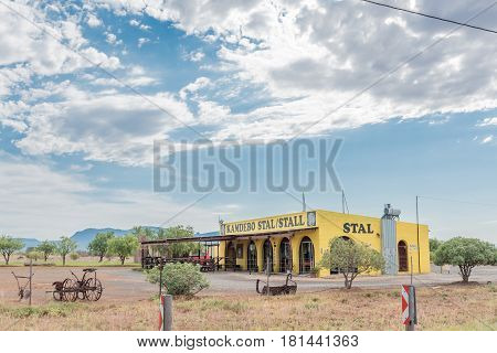 ABERDEEN SOUTH AFRICA - MARCH 23 2017: A road stall in Aberdeen a small town in the Eastern Cape Province