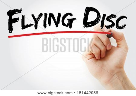 Hand Writing Flying Disc With Marker