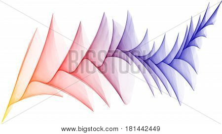 3D rendered veil looks like plume on white background