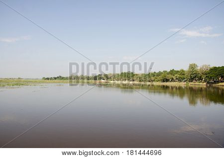 Bueng Si Fai Is A Large Freshwater Lake In Phichit, Thailand