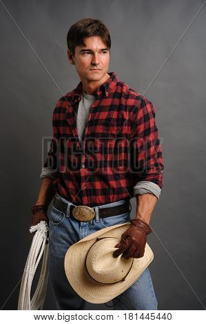 The cute adorable cowboy is about to find his lady.
