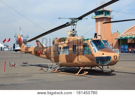 Morocco Air Force Huey Military Helicopter