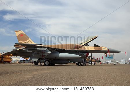 Moroccan Air Force F-16 Fighter Jet Airplane