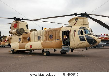 Moroccan Military Chinook Helicopter