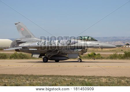 Poland Air Force F16 Fighter Jet Airplane