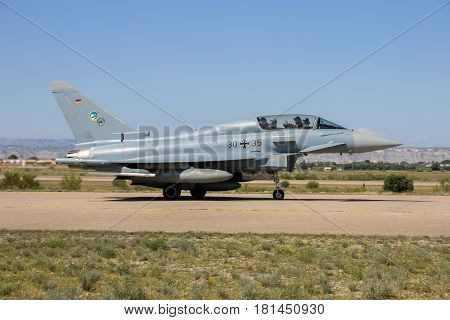 German Military Eurofighter Typhoon Fighter Jet Airplane