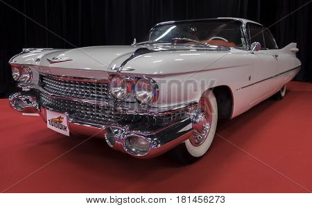 Cadillac Coupe Deville (1959) Car Displayed In Tel-aviv. Israel