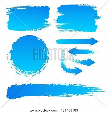 Vector collection, brush strokes, background of a billboard