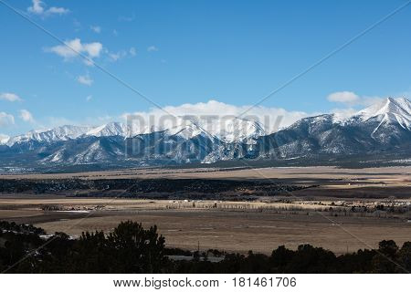 The Collegiate Range of mountains in Colorado.