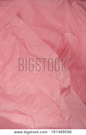 This is a closeup photograph of Pink Tissue paper