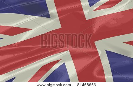 The British Union Flagcloseup. or Union Jack when used on board ship in silk or satin.