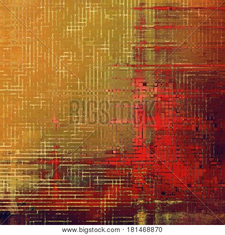 Vintage background, antique grunge backdrop or scratched texture with different color patterns: yellow (beige); brown; gray; pink; red (orange); purple (violet)