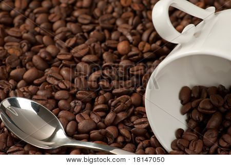 Coffee bean background with copy space