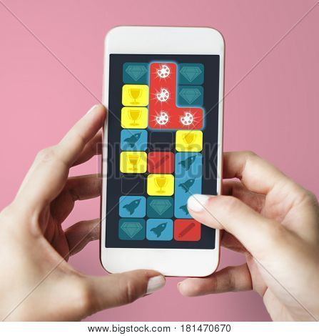 Palette Colors Spaceship Diamond Matching Game