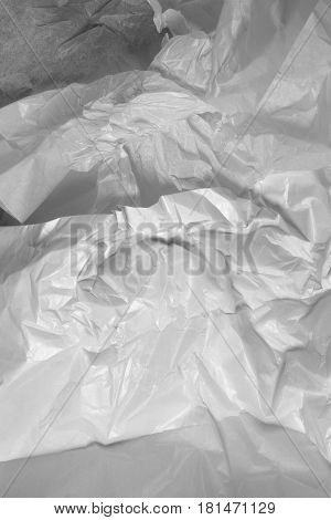 This is a closeup photograph of White Tissue paper