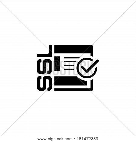 SSL Secured Icon. Flat Design Isolated Illustration.