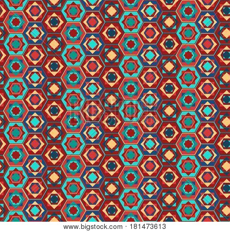 Geometric Pattern With Hexagons And Squares