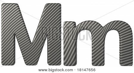 Carbon Fiber Font M Lowercase And Capital Letters