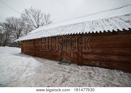 Medovarnya house - kitchen for beverage made from honey - built of wooden logs in the 17th century