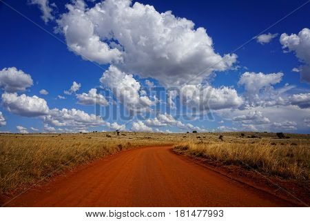 road, sky, clouds, what a fantastic day in southafrica
