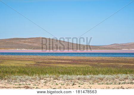 Salt Lake In Crimea, Russia