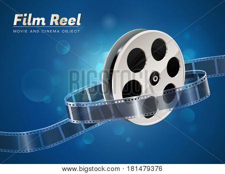 film reel cinema movie theater object on bokeh background