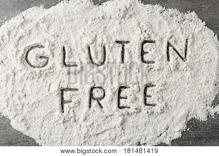 Gluten free coconut flour on table