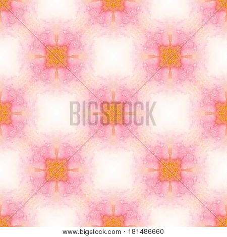 Abstract watercolor seamless pattern. Tender pink background.