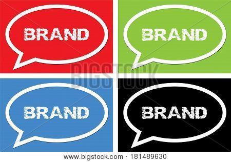 Brand Text, On Ellipse Speech Bubble Sign.