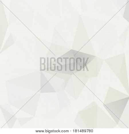 Bright plain color abstract square background. Vector ilustration. Square layout low polygonal texture pattern. Light green lowpoly banner.