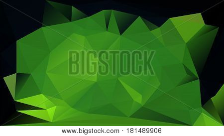 Dark green low polygonal texture abstract vector background. Horizontal layout greenish polygons. Gradient futuristic space backdrop.