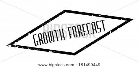 Growth Forecast rubber stamp. Grunge design with dust scratches. Effects can be easily removed for a clean, crisp look. Color is easily changed.