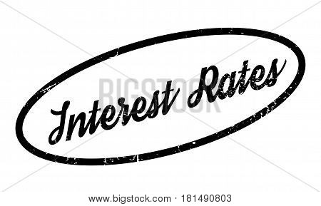 Interest Rates rubber stamp. Grunge design with dust scratches. Effects can be easily removed for a clean, crisp look. Color is easily changed.