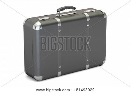 leather suitcase 3D rendering isolated on white background