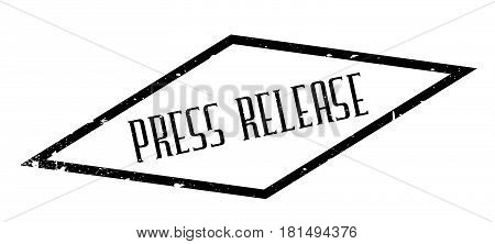 Press Release rubber stamp. Grunge design with dust scratches. Effects can be easily removed for a clean, crisp look. Color is easily changed.