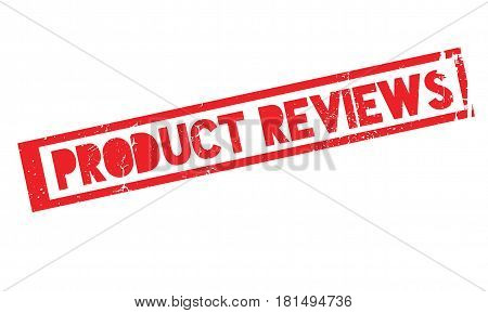 Product Reviews rubber stamp. Grunge design with dust scratches. Effects can be easily removed for a clean, crisp look. Color is easily changed.