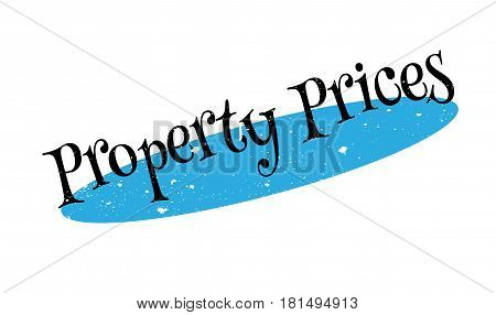Property Prices rubber stamp. Grunge design with dust scratches. Effects can be easily removed for a clean, crisp look. Color is easily changed.