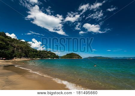 Tropical Beach with Turquoise Water Somewhere in Brazil