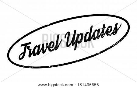Travel Updates rubber stamp. Grunge design with dust scratches. Effects can be easily removed for a clean, crisp look. Color is easily changed.