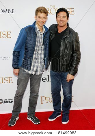 Christopher Dean Cain and Dean Cain at the Los Angeles premiere of 'The Promise' held at the TCL Chinese Theatre in Hollywood, USA on April 12, 2017.
